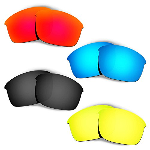 Hkuco Mens Replacement Lenses For Oakley Bottle Rocket Red/Blue/Black/24K Gold Sunglasses
