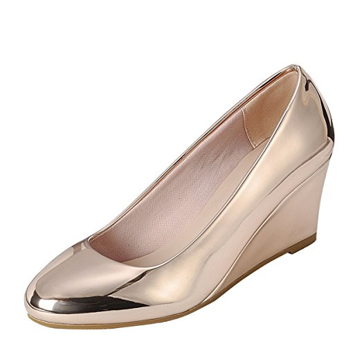 Forever Doris-22 Wedges Pumps-Shoes Rose Gold)