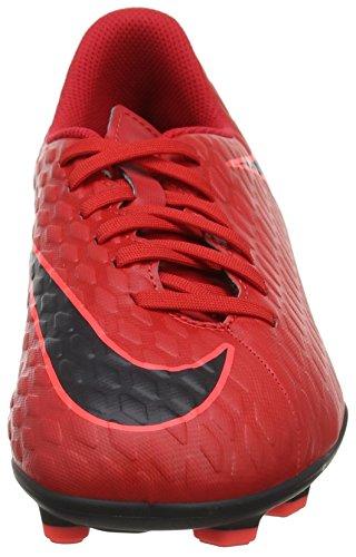 Nike Kids Hypervenom Phade Iii Fg Tacchetti Da Calcio Università Rosso / Nero / Luminoso Cremisi