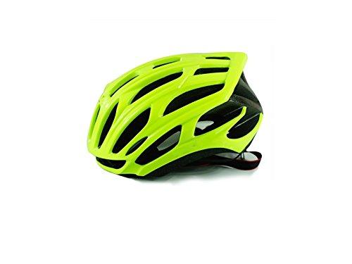 Wesource Adult Adjustable Bike Helmet Porous Ventilation Helmet One-Piece Bicycle Helmet(Fluorescent Yellow) by Wesource