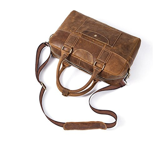 Vintage Shoulder Messenger Large Design Men's 1 Bags Sucastle Leather Briefcases Capacity gYfxqUw