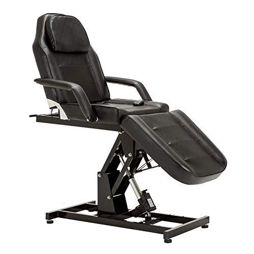BarberPub Salon SPA Massage Bed Tattoo Chair Facial Adjustable Table Beauty Equipment 0100 (Black)