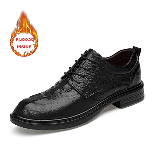 Faux smooth Black A Low Da Inside Grandi 2018 Convenziona Primavera Di Suede Motivo Fleece Business Uomo Oxford Con Formali Warm Confortevole Black Scarpe Dimensioni Stringate estate Crocodile Le Coccodrillo Top 66gnP