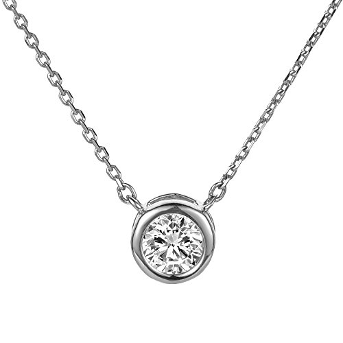 BIJOUX BOBBI Gift Packaging Grand Twirl 925 Sterling Silver Premium Necklaces - Silver - S1522X (Tiffany Yellow Necklace)