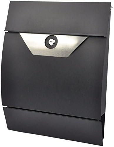 Briefkasten Postkasten Zeitungsfach Mailbox Wandbriefkasten Zeitung Schwarz