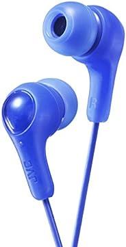 JVC Fones de ouvido intra-auriculares Gumy, som potente, ajuste confortável e seguro, peças de silicone P/M/G