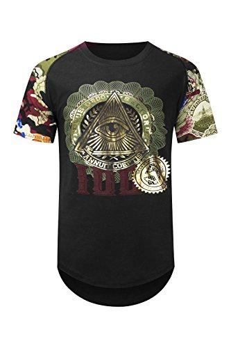 Pyramid Dollar Bill - Trending Apparel New Men Eye of Providence Shirts Triangle Pyramid Cash Dollar Bills Sizes S-2XL