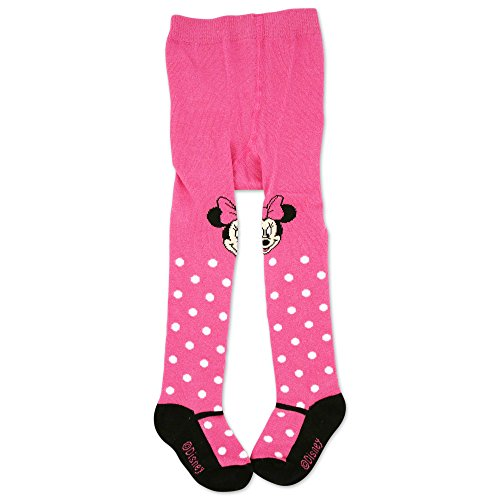 Disney Baby Girls Minnie Mouse Polka Dot Tights, Multicolor, 0-24M