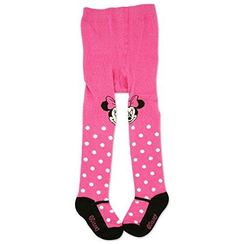innie Tights with Polka Dots, Dark Pink, 9-18M (Cotton Polka Dots Tights)