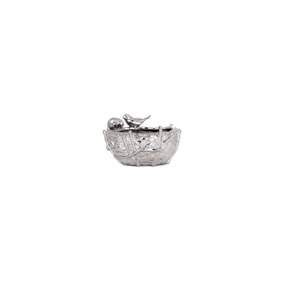 Torre & Tagus Bird Nest Vase, Small, Chrome