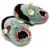 New! Plants Vs Zombies Punk Style Slippers Winter Warm Shoes