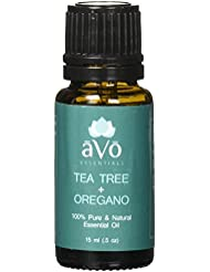 āVō Skin Tag Removal, Ringworm Treatment, Toenail Fungus, and Psoriasis Blend - Pure Tea Tree Oil and Oregano Oil - 100% Therapeutic Grade Essential Oil - 15ml