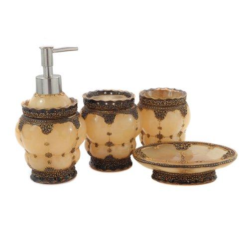 Dream bath royal palace 4 piece bathroom accessories for Bathroom accessories uae