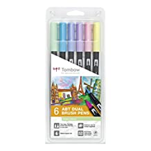 Tombow Dual Brush Pens Pastels - Pack of 6 Colors (ABT-6P-2)