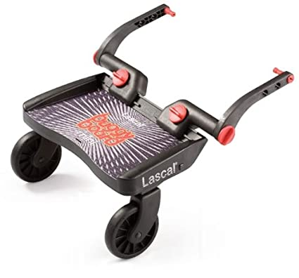 Lascal 2830 - Buggy Board Mini - Tabla con ruedas para carrito, color negro