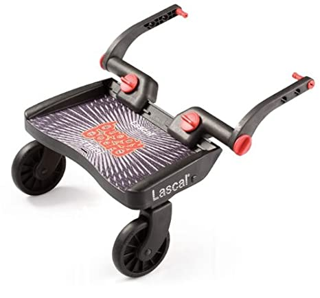Lascal 2840 - Buggy Board Mini - Tabla con ruedas para carrito, color azul y negro