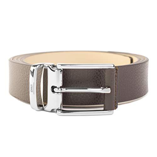 Giorgio Armani Collezioni Men's Grained Leather Belt Brown
