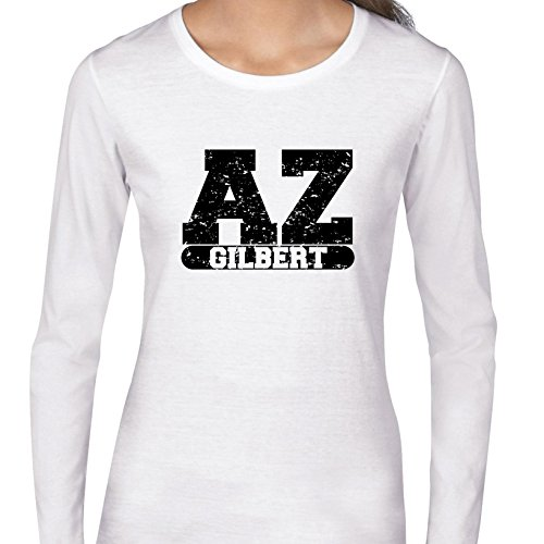 Hollywood Thread Gilbert, Arizona AZ Classic City State Sign Women's Long Sleeve -