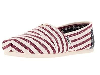 TOMS Women's Seasonal Classics Americana Canvas Flag Loafer 5 B (M)