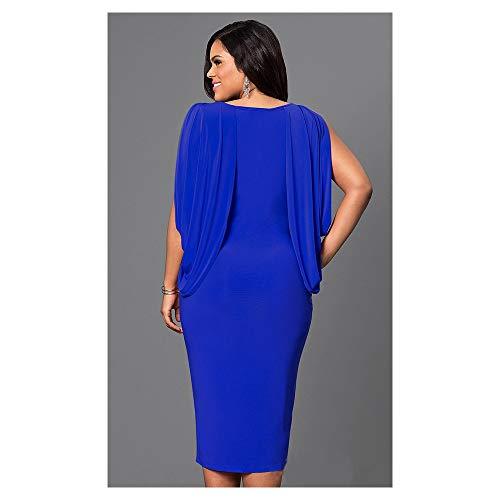 Femme Plus V Step Split Sapphire Color One Deep Robe Size Color Taille Jupe XXXL Black Grande BBethun qvF5CX