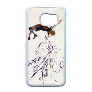 Haikyuu funda de plástico Samsung Galaxy S6 Edge caja del teléfono celular funda funda caja del teléfono celular blanco cubren ALILIZHIA10847
