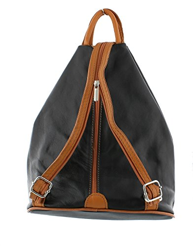 Shoulder Handbag Rucksack Soft F264 Backpack Navy Leather qBIKy6t