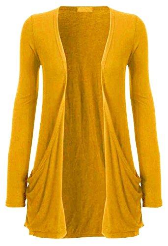 moutarde Size SM Cardigan Hanger manches Color 36 Femme haut 38 Jaune longues Hot 7w8Aqz7