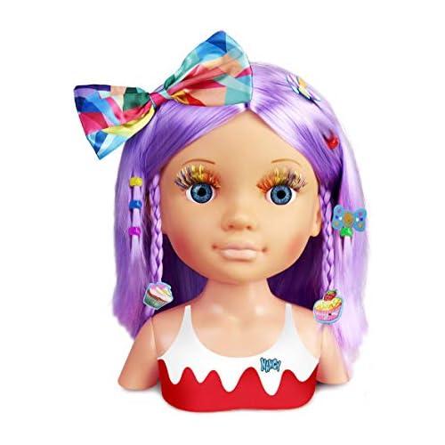 chollos oferta descuentos barato Nancy Un Día de Secretos de Belleza Violeta Busto de Peluquería y Maquillaje para Niños y Niñas a Partir de 3 Años Multicolor Famosa 700015133
