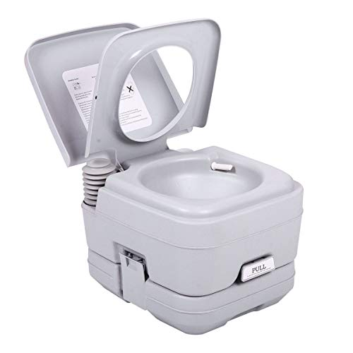 MB-Campstar 2.8 Gallon 10L Portable Toilet Travel Camping Outdoor Toilet Flush Potty - Holding Gallon Tank 2.8