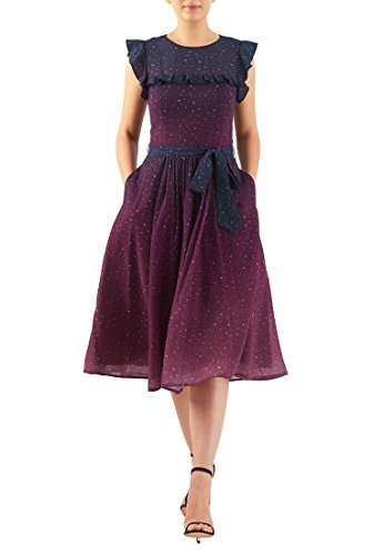 Ruched Georgette Dress - 4