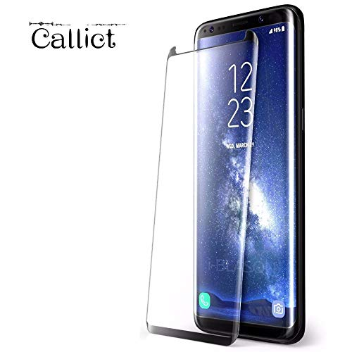 [2 Pack] Galaxy Note8 Screen Protector, [New Version] [3D Curved Edge] Ultra Clear 9H Hardness Tempered Glass Screen Protector Bubble-Free Film for Samsung Galaxy Note 8 [Black] (Calact1) by Callict