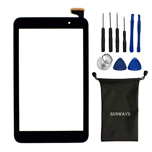sunways Touch Digitizer Glass Lens Screen Replacement for ASUS Memo Pad 7 ME176 ME176C ME176CX K013 with Device Opening Tools(Black) (Asus Screen Memo Touch Pad)