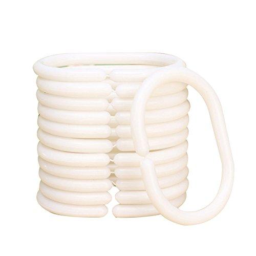 12pcs Shower Curtain Hook Hanger Ring Bath Drape Loop Clip Glide Replacement rongwen TRTA11A