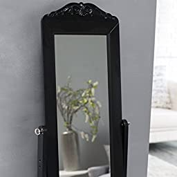 Removable Top Cheval Mirror - Storage Organizer Drawer Decorative Bedroom Dressing Room Home Indoor Spaces