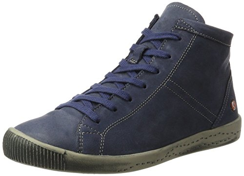 Altas Azul Washed Softinos Zapatillas Isleen Mujer Navy para Leather 5q00RxwI