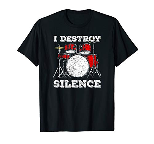 (Drum Kit T-Shirt Percussionist Drummer Quote Apparel T-shirt)