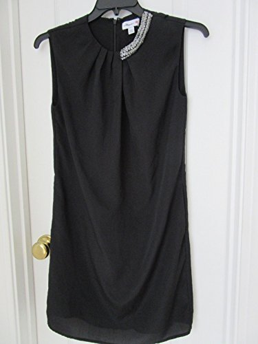 (Phillip Lim Embellished Sleeveless Shift Dress Black