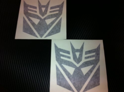 1 Pair of Decepticons Transformers Racing Decal Sticker (New) Black Size 5''x4.7'' - Decepticon Car Decal