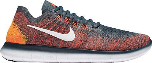 Nike Herren Free Rn Flyknit 2017 Traillaufschuhe, 38 EU Grau, (Grey/Crimson)