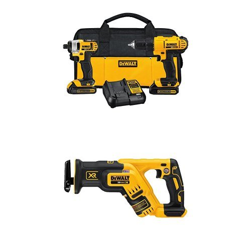 DCK240C2 20v Lithium Drill Driver/Impact Combo Kit (1.3Ah) with 20V Max XR...