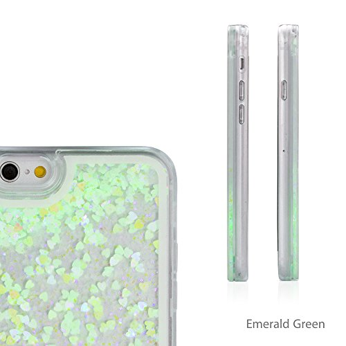 iPhone 6Plus Coque, BoxWave® [flutterlove Coque hybride rigide]/paillettes liquide Coque en TPU pour Apple iPhone 6Plus, 6S Plus–Vert émeraude
