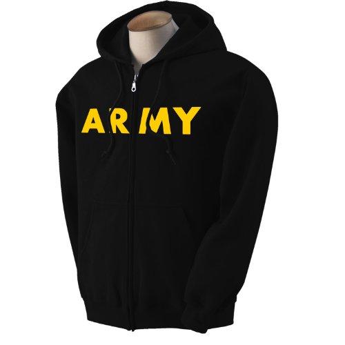 Army Black Hooded Sweatshirt - 7