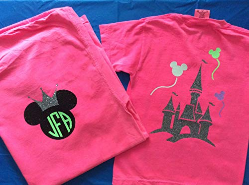 Handmade halloween personalized Disney Minnie Mouse monogram Shirt]()