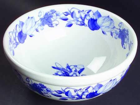 Portmeirion Harvest Blue Salad Serving Bowl 7 3/4