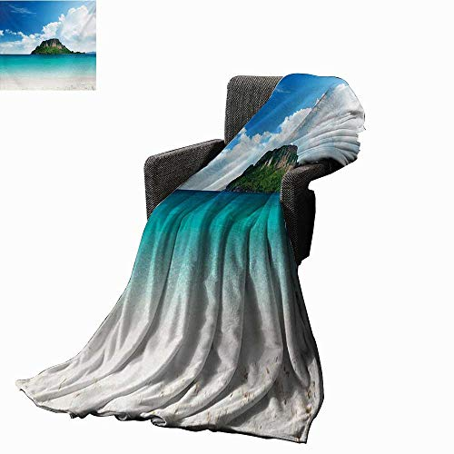 ghtweight Blanket Poda Island in Thailand South Asian Tropic Paradise Hot Sun with Clouds Photo,Super Soft and Comfortable,Suitable for Sofas,Chairs,beds ()