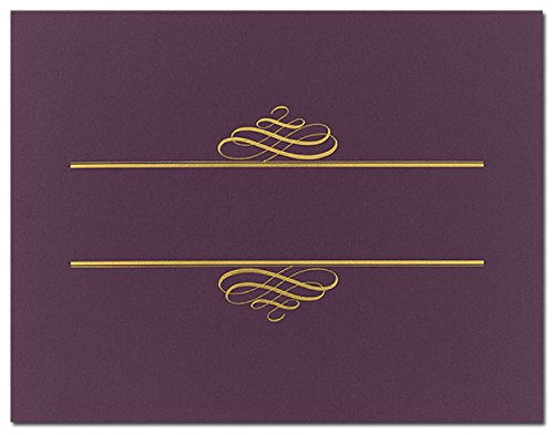 Purple Value Certificate Covers - 25 Covers (Covers Certificates)