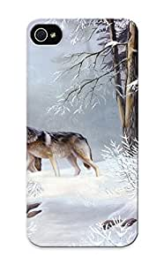 Freshmilk Top Quality Case Cover For Iphone 5/5s Case With Nice Wolves Winter Appearance