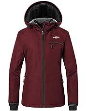 Wantdo Women's Hooded Anorak Fleece Ski Jacket Mountain