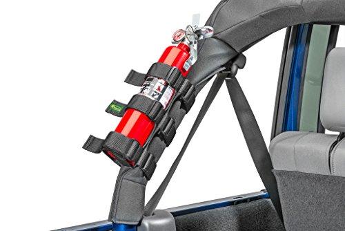 Quadratec® Nylon Strap Large Fire Extinguisher Holder for Jeep - Black