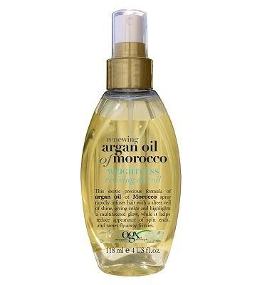 Ogx Renewing Moroccan Argan Oil Haaröl, nicht beschwerend, für trockenes und strapaziertes Haar, 118 ml